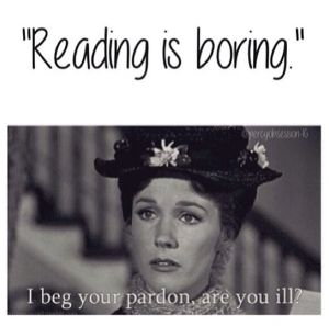 Mary Poppins knows how important reading is.